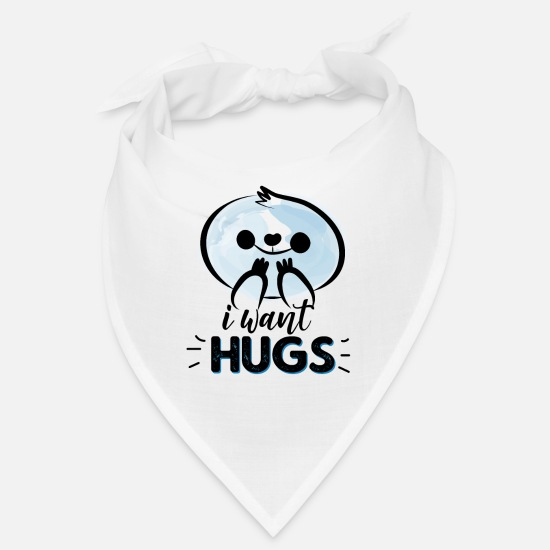 Siblings Bandanas - hugs blue - Bandana white