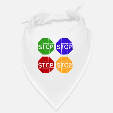 Graphic Art Pop Art / Graphic Novel: STOP - Bandana