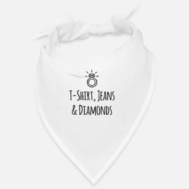 Juwel Diamanten Luxus Fan Fashion T-Shirt Jeans Diamonds - Bandana