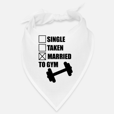 Gym Married to gym : funny Gym Body building Fitness - Bandana