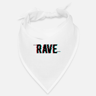 Rave Rave Techno House EDM Glitch Effect Rave Wear - Bandana