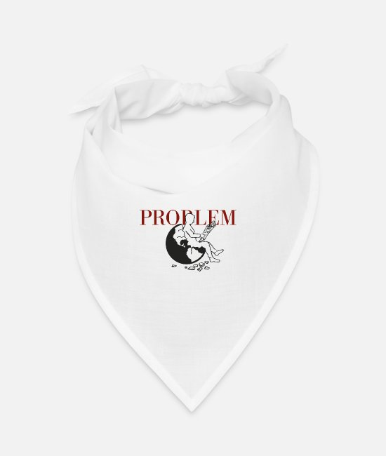 Earth Bandanas - problem - Bandana white