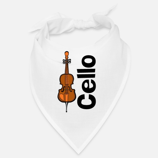 Music Bandanas - Cello Orchestra Musical Instrument - Bandana white