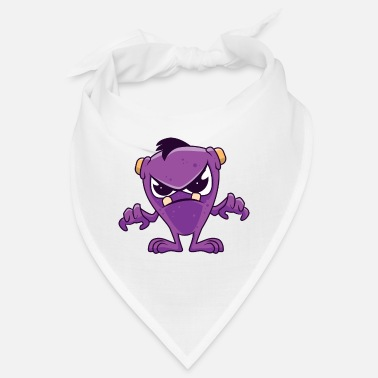 Aggressiv Böses lila Monster - Bandana