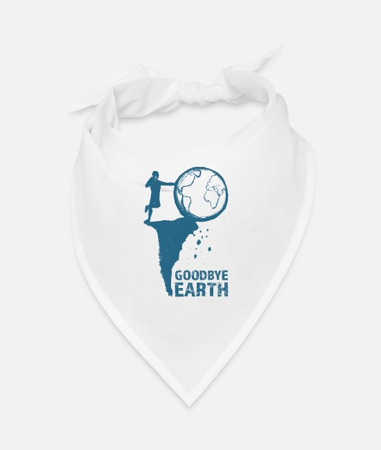 Nature Bandanas - Goodbye Earth - Bandana white