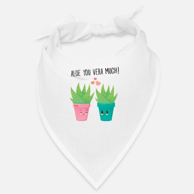 Amie Aloe You Vera Much - Cute Love Couple Gift Idea - Bandana