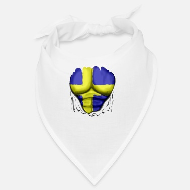 Pack Sweden Flag Ripped Muscles, six pack, chest - Bandana