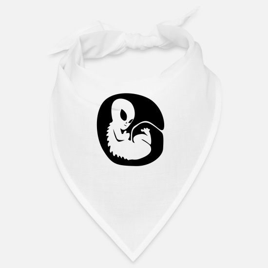 Boarder Bandanas - Alien on board - Bandana blanc