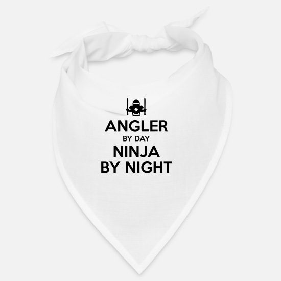 Carp Bandanas - angler day ninja by night - Bandana white