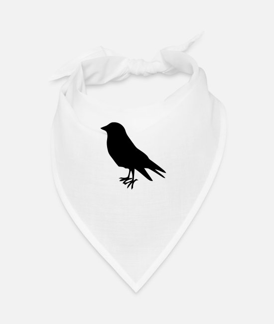 Raven Bandanas - early bird bird birds - Bandana white