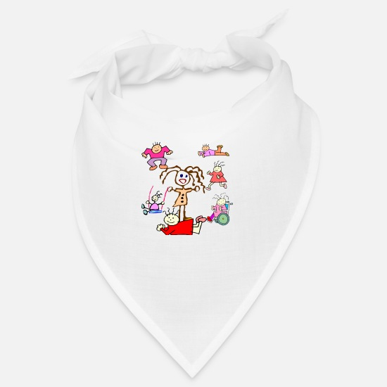 Boy Bandanas - Scribble Kids Collection - Bandana white