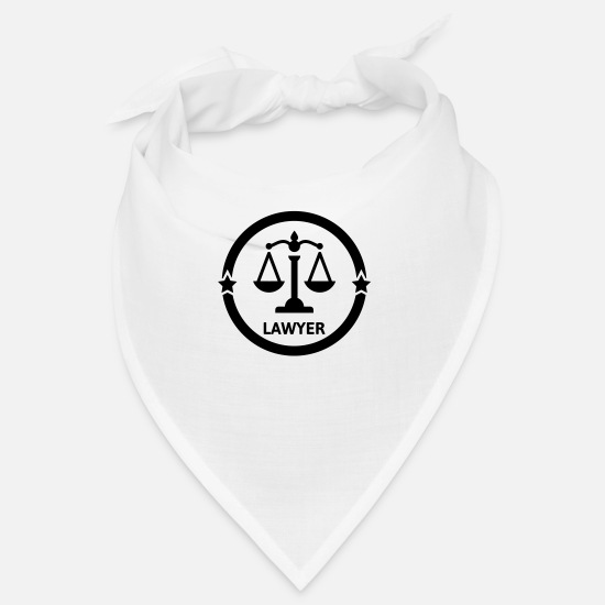 Cool Bandanas - Lawyer Avocat Anwalt Barrister Justice Law - Bandana white