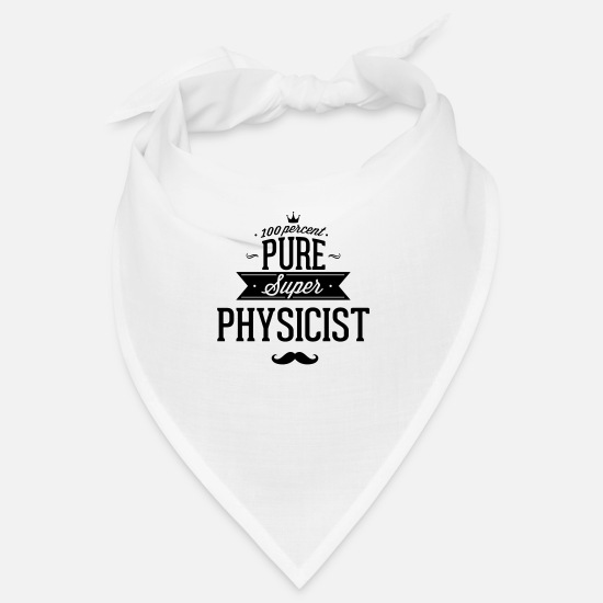Bang Bandanas - 100 percent Super-physicist - Bandana white
