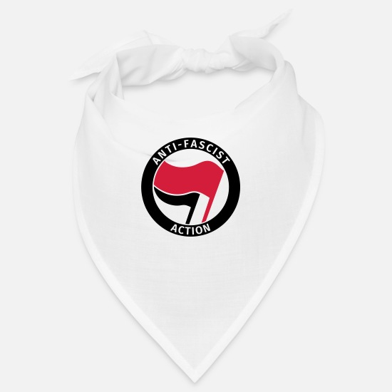 Antifa Bandanas - Anti-Fascist Action - Bandana blanc