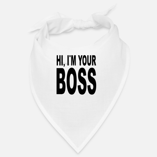 Morning Bandanas - your boss - Bandana white