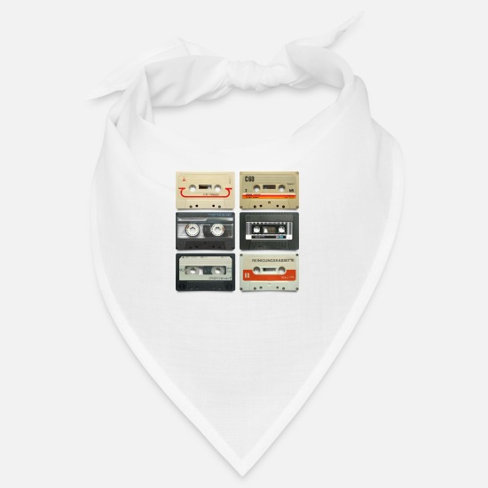 Tape Bandanas - vintage tape: 6 tapes - Bandana white