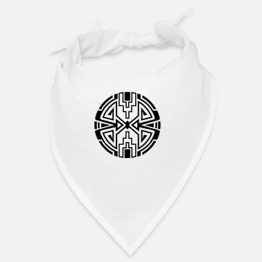 Sun Signs Native circle symbol, arrows & diamond - Intention - Bandana