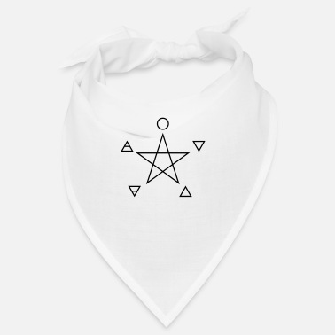 Four Elements Pentagram, elements, spirit, magic symbol - Bandana