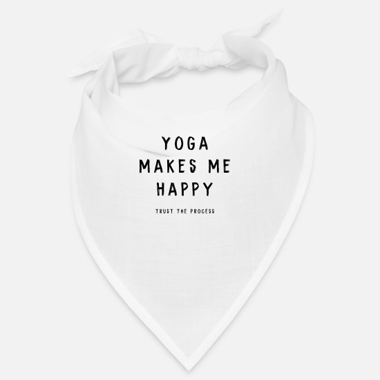 Mantra Bandanas - YOGA HAPPY - Bandana Weiß
