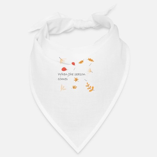 Romantisch Bandanas - Falling Leaves, Season of Autumn - Bandana Weiß