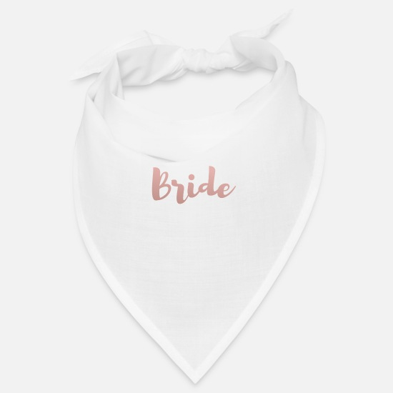 Rose Bandanas - Bride Shirt | Rose Gold - Bandana Weiß