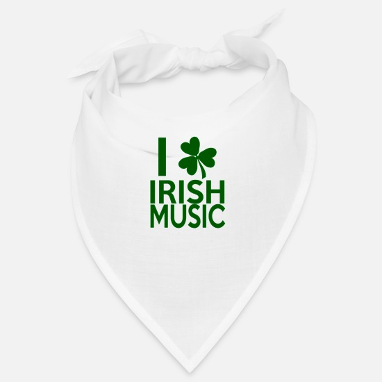 Dublin Bandanas - Irish Music - Bandana white