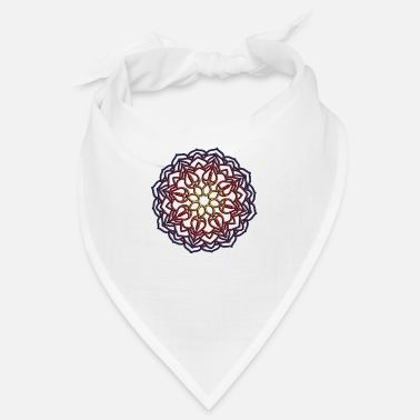 Elephants Mandala Ornament Illustration - Bandana