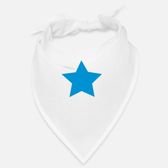 Single Bandanas - Star - Bandana white
