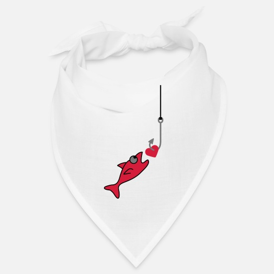 Miscellaneous Bandanas - Fishing With Heart - Bandana white