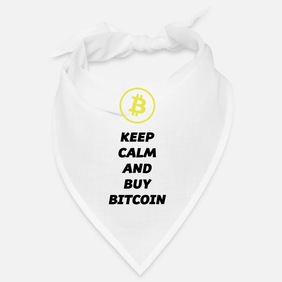 Bitcoin Bandanas - keep calm buy bitcoin - Bandana Weiß
