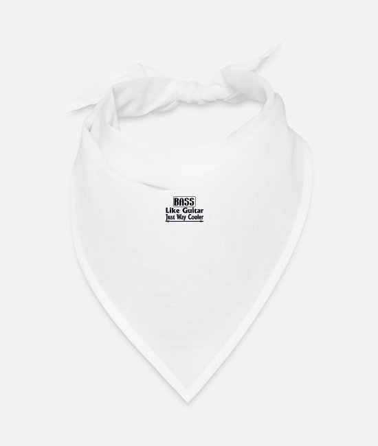 Bass Bandanas - Bass bass like guitar - Bandana white