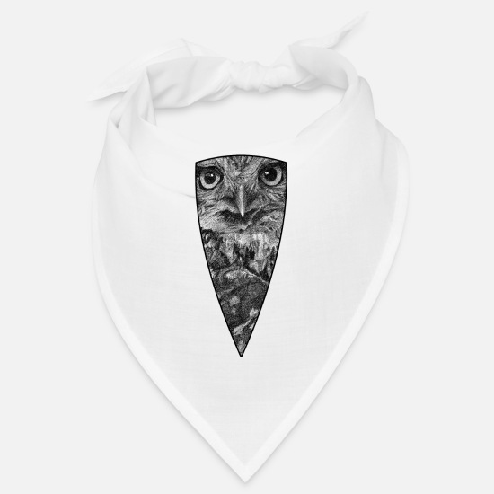 Nature Bandanas - Little Owl - Bandana white