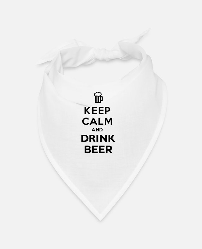 Keep Calm Bandanas - Keep Calm And Drink Beer - Bandana white