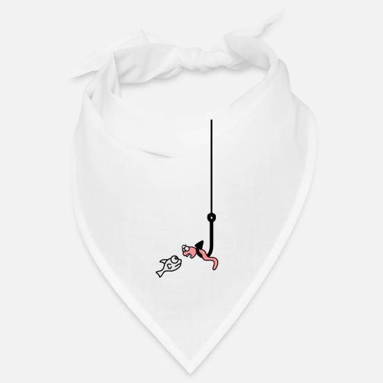 Crook Bandanas - fishing - Bandana white