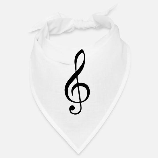 Rock Bandanas - Music Key - Bandana white