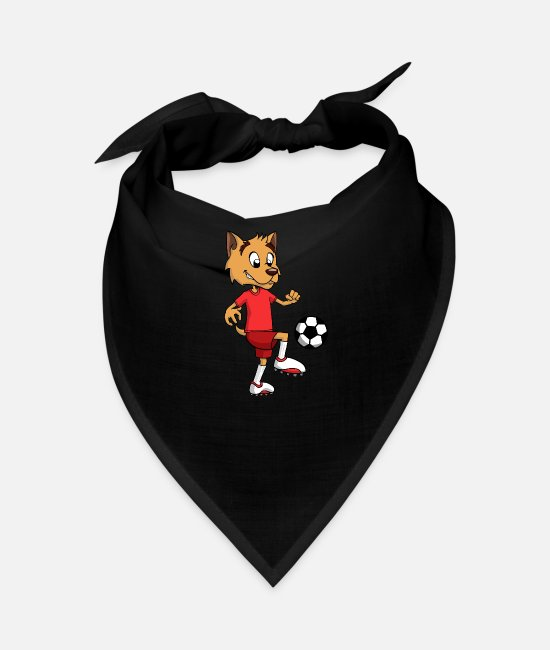 Birthday Bandanas - Sporty sportsman dog with soccer ball - Bandana black