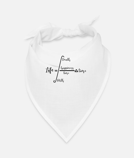 Birthday Bandanas - Formula of Life - Bandana white