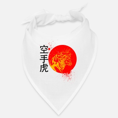 Splatter Der Karate kämpfende Tiger Japan Logo Design - Bandana