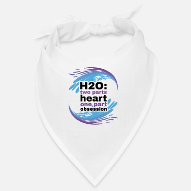 H2O Heart and Obsession swimming design. - Bandana