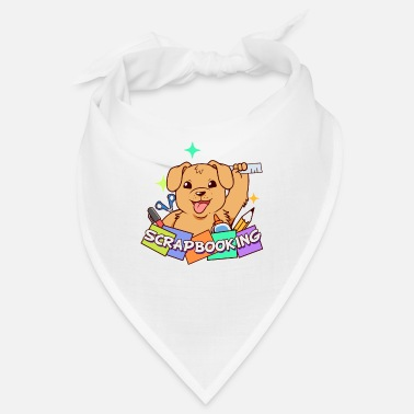 Poetry Poetry poetry album scrapbook terrier dog - Bandana