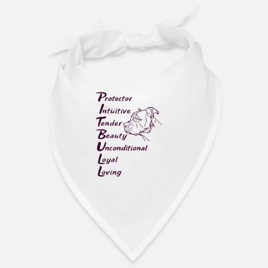 Bull Terrier Bandanas - Pitbull Dog Maman Chien Crazy Cool Quote - Bandana blanc