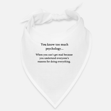 Studies Psychology psychologist student gift job idea - Bandana