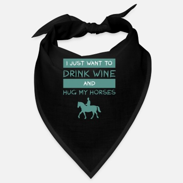 Horseshoe ride horse alcohol wine love gift arab - Bandana