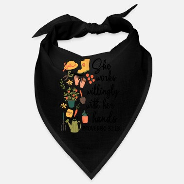 Sheriff She Works Willingly With Her Hands Proverbs 3113 - Bandana
