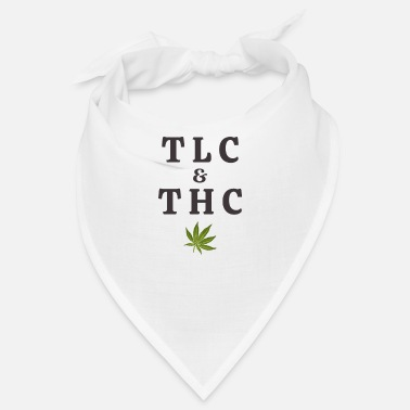 Tlc 420 Pot Leaf Graphic / Marihuana Plant Saying / - Bandana