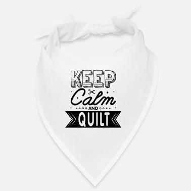 Keep Calm And Quilt Lustig Quilting Spruch - Bandana