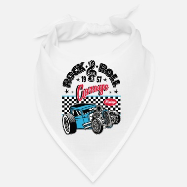 Rockabilly Rockabilly Vintage Car Rocker Rock N Roll - Bandana
