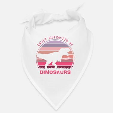 Wild Animal Easily Distracted By Dinosaurs Pink Sunset - Bandana