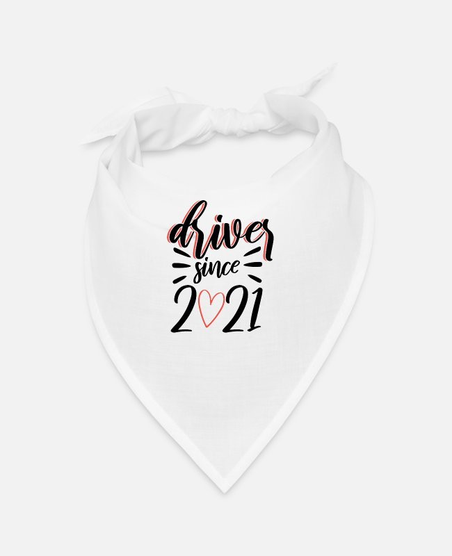 Passed Bandanas - Driving license passed 2021 driving test gift - Bandana white