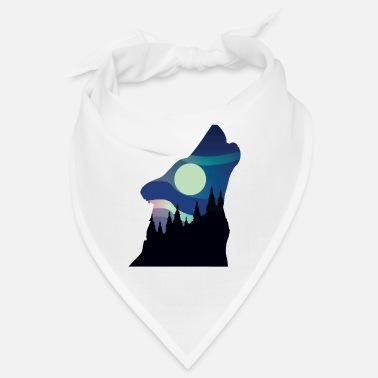 Owl Howling Wolf in the Forest - Bandana